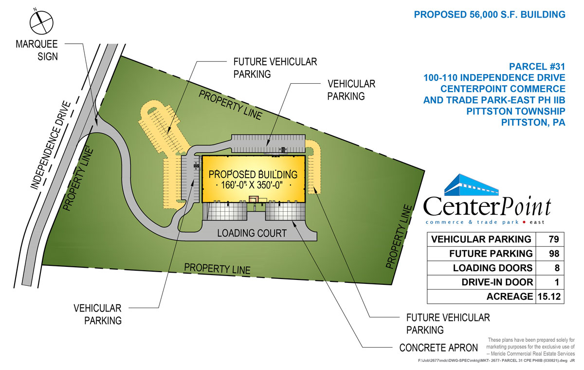 100-110 Independence Drive site plan