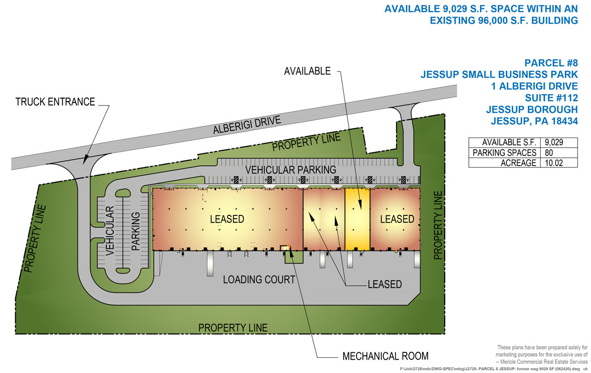 1 Alberigi Drive Site Plan