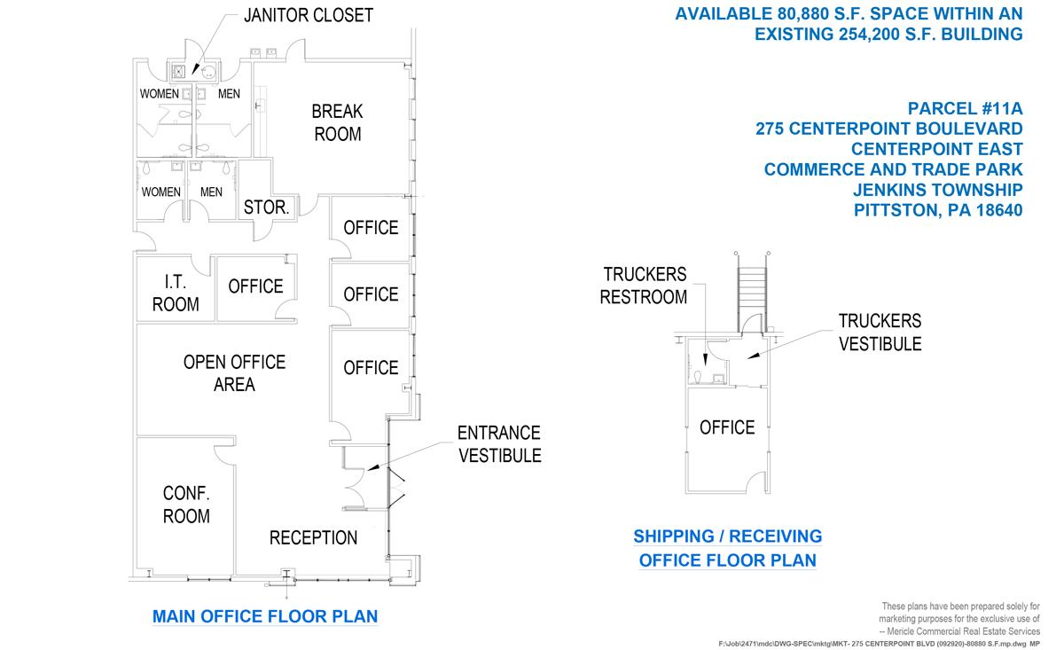 275 CenterPoint Boulevard Office Plan