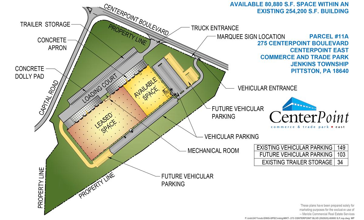275 CenterPoint Boulevard Site Plan