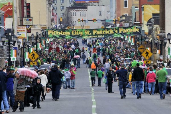 St Patricks Day Parade Downtown Pittston PA